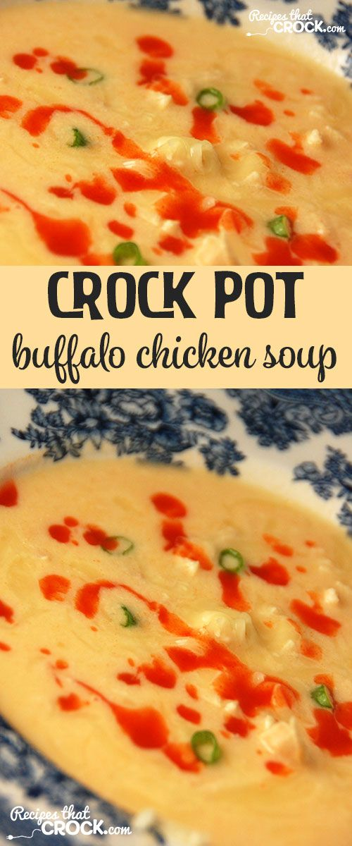 If you love buffalo chicken wings, you HAVE to try this Crock Pot Buffalo Chicken Soup!