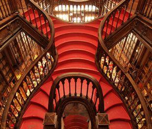 Lello Bookshop, Porto, Portugal: Port Portugal, Lello Bookshop, Red, Rollers Coasters, Bookstores, Books Stores, Centerpieces, Coolest Stairca, The World