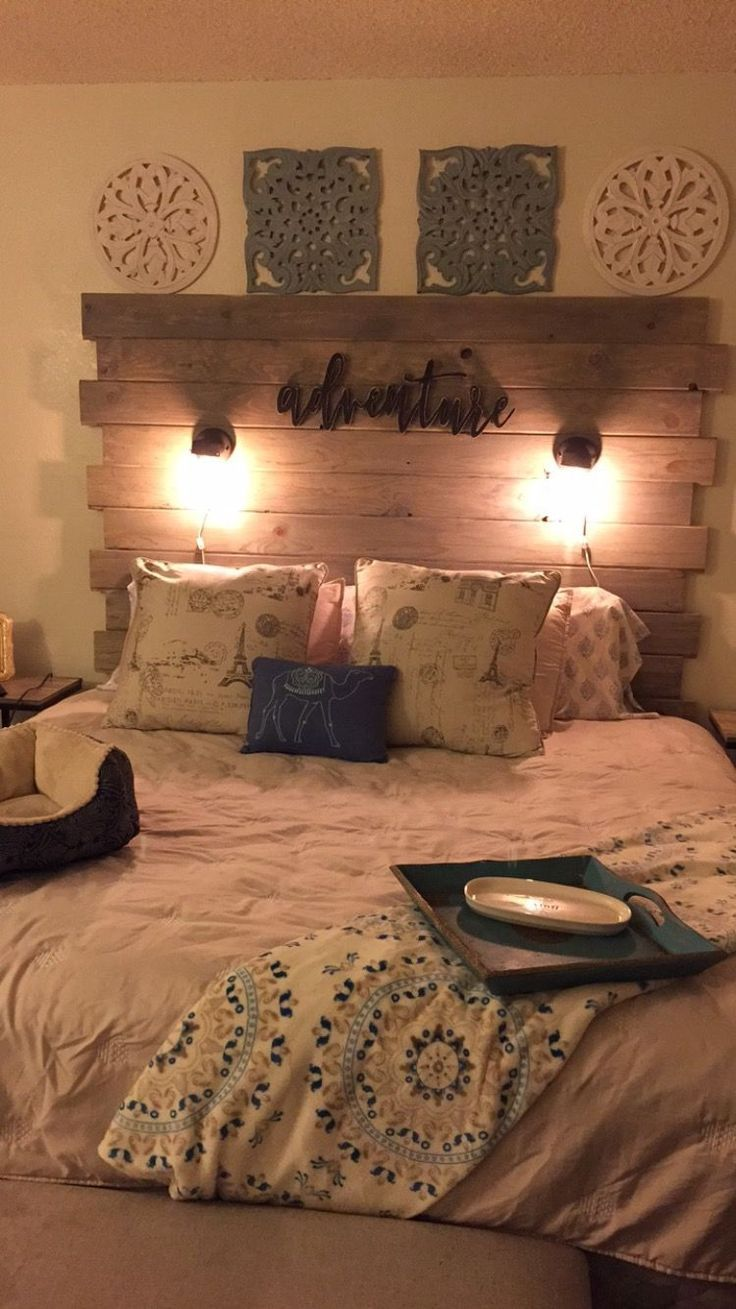 Diy Rustic King Size Headboard Super Easy And Super Fun