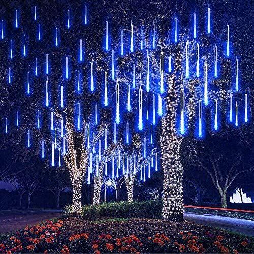 LED Météore de Pluie Guirlande Lumineuse Lampe Imperméable Noël Fête Arbre Décor