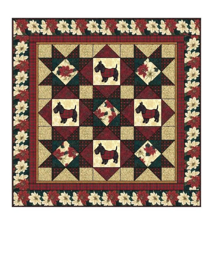 Quilt Pattern For Scottie Dog : 17 Best images about Scottie Quilts on Pinterest Quilt, Wall hangings and Scottie dogs