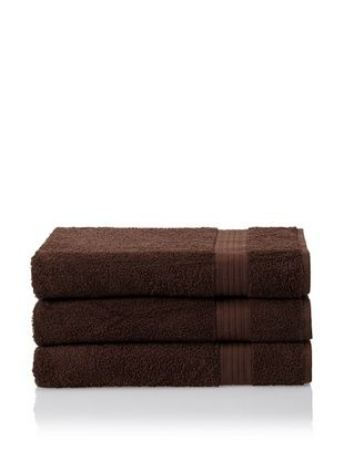 55% OFF Savannah by Chortex 3 Piece Bath Sheet Set, Chocolate