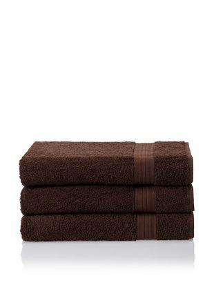 55% OFF Savannah by Chortex 3 Piece Bath Sheet Set, Chocolate