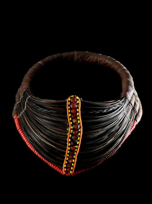Africa | Wedding Necklace 'Mpooro Engorio' Rendille peoples. Kenya | These necklaces are also sometimes worn by the Samburu women in northern Kenya.  Only married women wear such necklace, and they are usually given as a present to a bride.