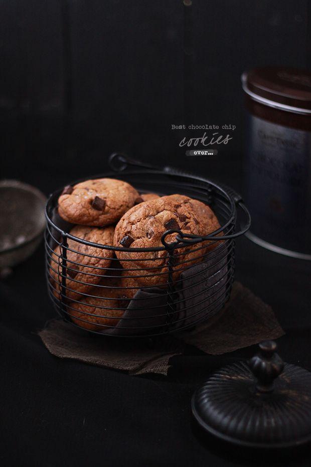Cookies tout chocolat avec des Chunks (grosses pépites de chocolat chez Vahiné)