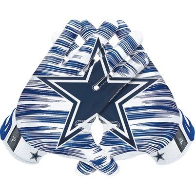 Mens Dallas Cowboys Nike NFL Vapor Jet 3.0 Authentic Gloves