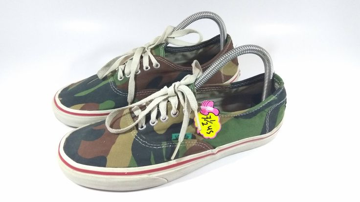 Excited to share the latest addition to my #etsy shop: Rare Vintage Retro Vans CAMO Colours Snearkers / ARMY Colour Shoes Size 9US women . http://etsy.me/2DrXEXi #clothing #shoes #vans #vansusa #oldschoolvans #vintageshoes #camosneakers #camoshoes #rareshoes