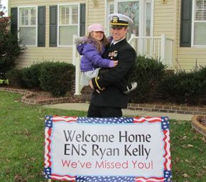 Since 2008, BuildASign.com has given away more than 275,000 Welcome Home banners to military friends and families for their loved ones returning home from a deployment. It's our way to say thanks for their service and sacrifice, and to make all homecomings a little more special.