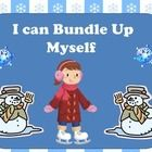 Every class of Preschoolers has a child that tries to put their boots on before putting on their snow pants-   With this colorful directive flip chart or book children can see what comes next when bundling up for outdoor winter fun!   8 large colorful pictures guide youngsters from grabbing their gear to putting on their mittens.