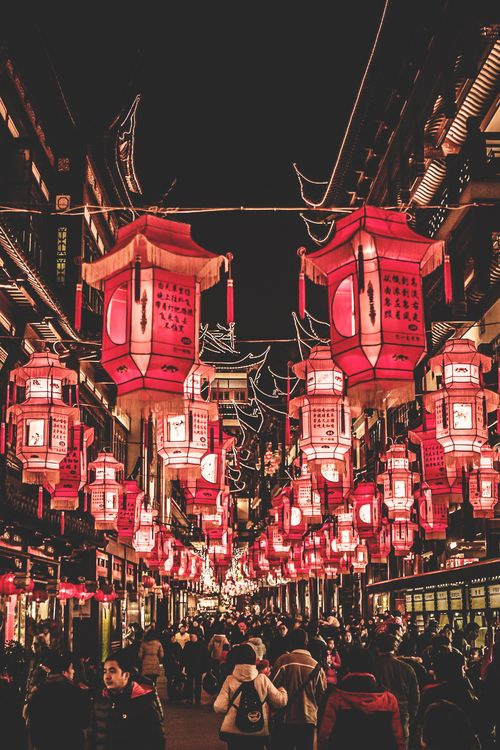 Chinese New Year Decorations In Yu Garden. Loved The Colors Of Shanghai. U003eu003e