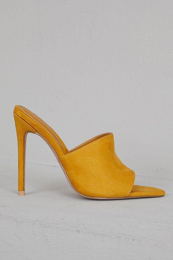 Cece Pointed Toe Mule (Mustard