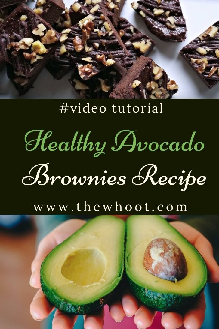 Healthy Avocado Brownies Recipe Video The Whoot Stuffed Avocado Healthy Avocado Recipes Healthy Brownie Recipes