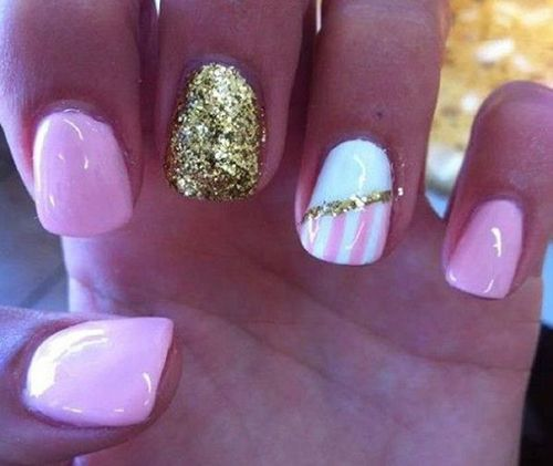 Beautiful pink nail design,cute!. #nail #nails .click to see more Lovely Nail Art Ideas for Summer
