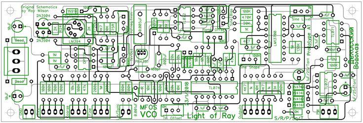 Ray Willson Voltage Controlled Oscillator PCB