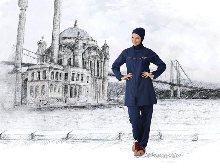 Haşema 2015 - Lacivert Tesettür Mayo Modelleri  http://www.yesiltopuklar.com/hasema-2015-modelleri-indirimde.html