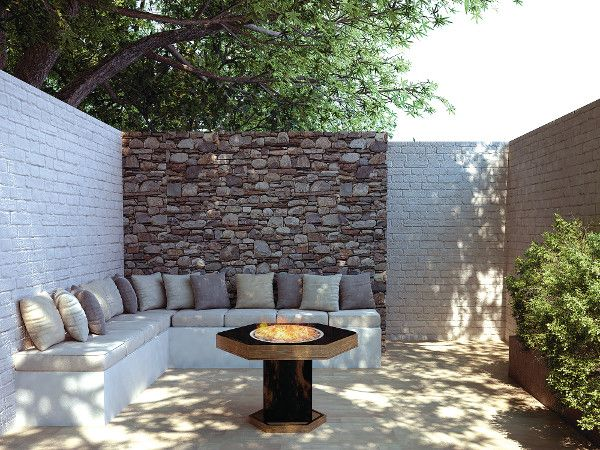 The Pitfire from Real Flame creates a cosy, high-end outdoor space | Outdoor Rooms | Home Ideas magazine