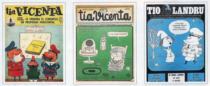 3 tapas de revistas: Tía Vicenta (2) y Tío Landrú (1)