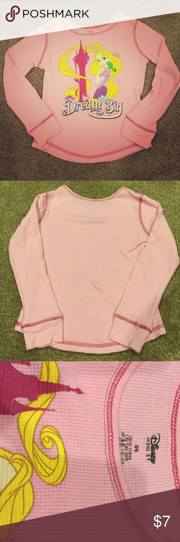 Long sleeve Rapunzel shirt So cute and comfy for the princess in your life!  Worn only a couple of times.  Price final unless bundled.  Please check out my other listings to bundle and save $! Disney Shirts & Tops Tees - Long Sleeve