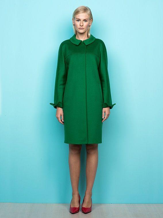 Пальто женское цвет травяной, Ворс, артикул 3014650p00040