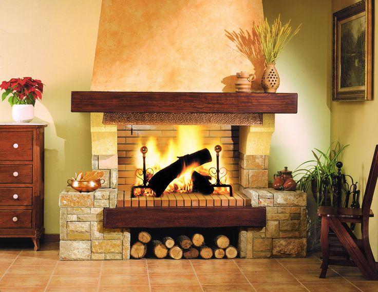 M s de 25 ideas incre bles sobre chimeneas de piedra en - Madera para chimenea ...