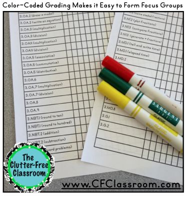 Clutter-Free Classroom: A Quick & Effective Way to Check Math Proficiency {3rd grade, Common Core, Report Cards, End-of-Year Review}