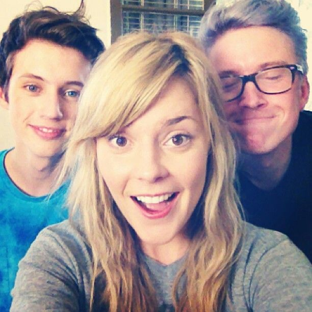 Troye Sivan, Tyler Oakley, and Grace Helbig. ❤