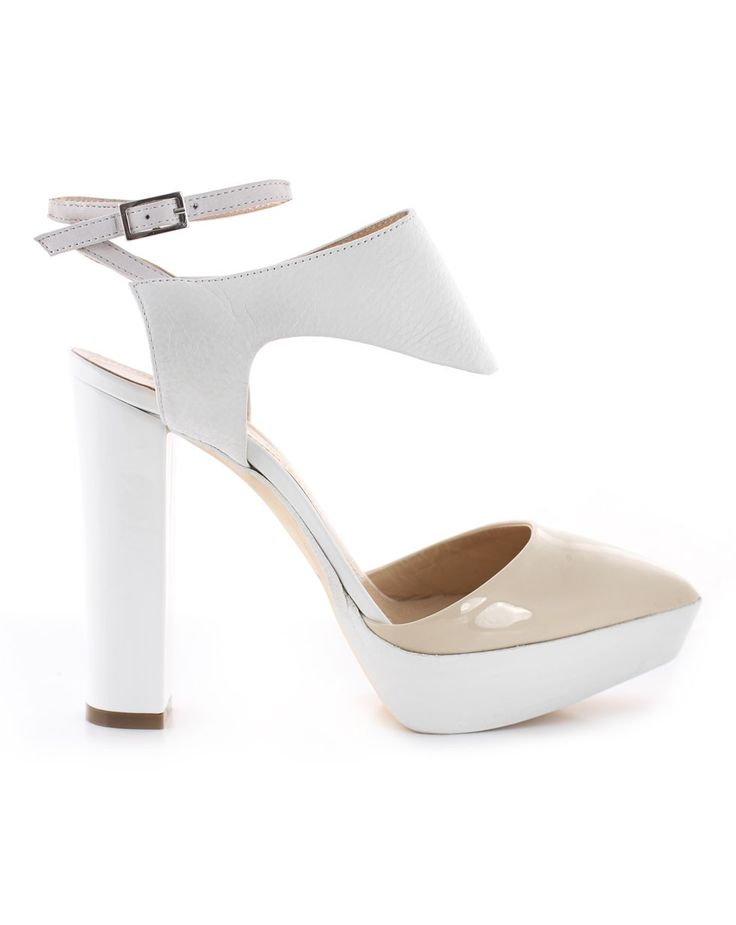 Peltro in Crema/Bianco by Beau Coops for Karen Walker, Summer heel