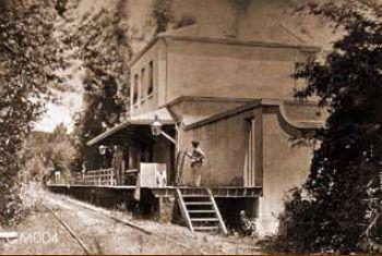 Claremont train station - c1904