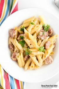 Cheesy Penne Pasta Skillet with Sausage and Shallot Cream | Boulder Locavore