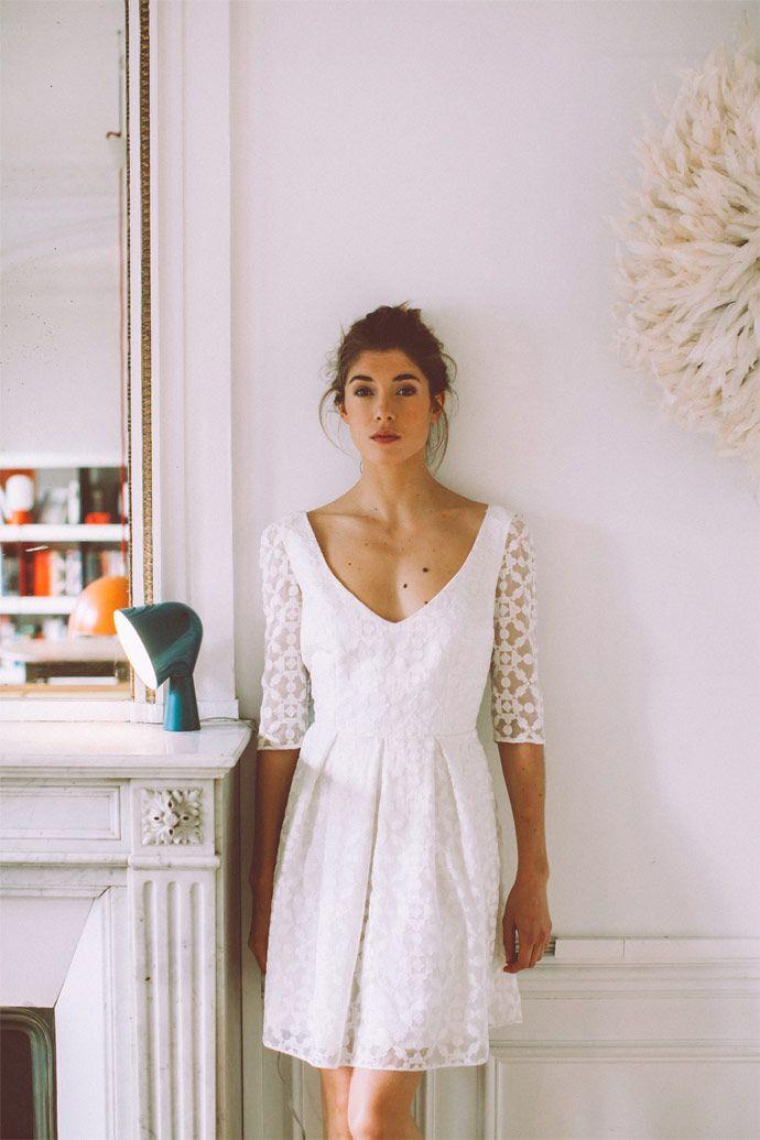 La collection civile 2016 de Lorafolk | Modèle : Robe Gary brodée | Photographe : Laurence Revol | Donne-moi ta main - Blog mariage