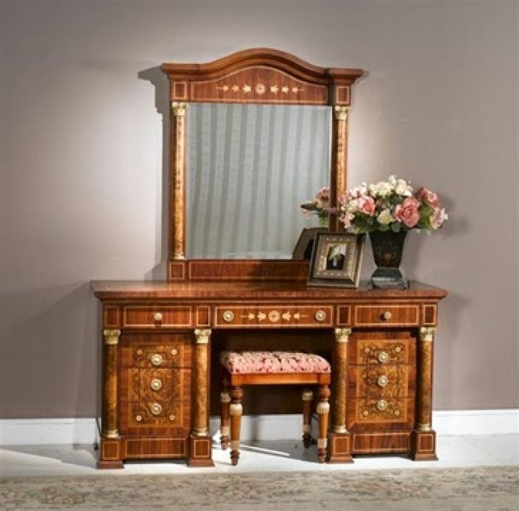 Dressing Table With Mirror And Bench
