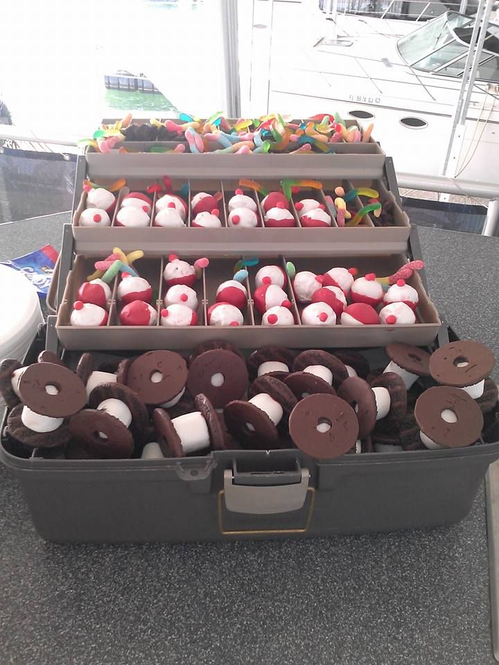 Cake It From Me: Fishing Tackle Box - Bobber cake pops