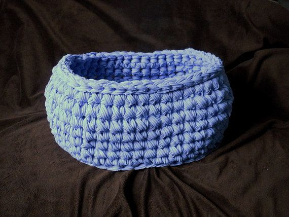 Lavender Chunky Oval Basket Crochet Newborn Photography Prop Pouf by ShortMountain, $35.00