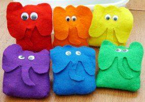 Rainbow Elephant Toys