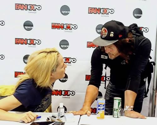 """Norman Reedus and Gillian Anderson (""""Daryl""""  &  """"Scully"""") ❤ """"The Walking Dead"""" & """"The X-Files""""    Two of the BEST shows EVER!!"""