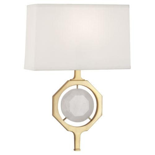 purchase the hope sconce in antique brass with white crystal for your