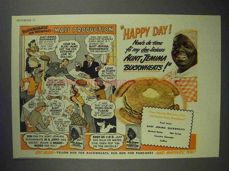 1942 Aunt Jemima Pancake Mix Ad - Mass Production