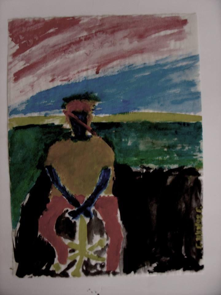 Saint No 8…Ω / Selfportrait , by Yorgos ΖΗΤΩ (2002)