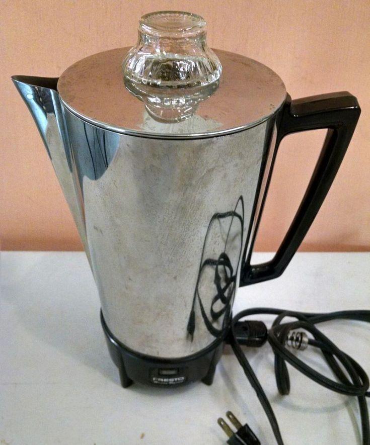 Vintage Coffee Maker Presto PK03B Super Speed 12 Cup Electric Percolator  #Presto
