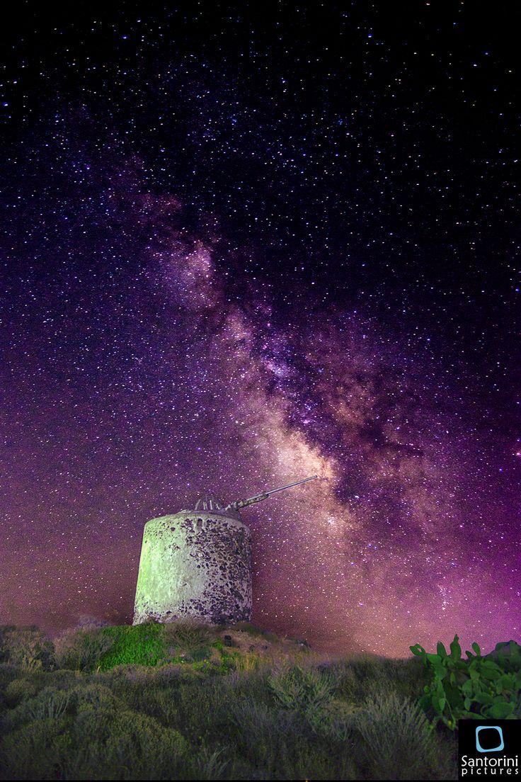 Milky way from Santorini