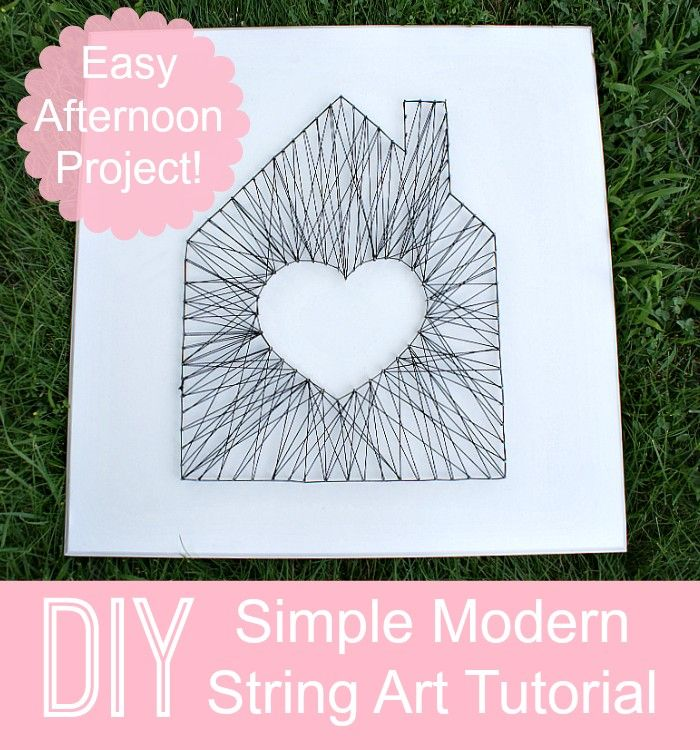 Fifty Two Weekends (...of DIY): How to Make Simple Modern String Art, tutorial