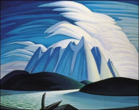 Lawren Harris-Group of Seven- Lake and Mountain