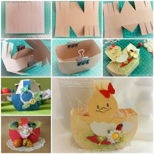 DIY facile Cartone Easter Basket 3