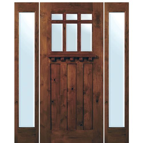 Glasscraft Ka Craftsman 6lt 68 1 2 6 8 Tall Traditional American Craftsman Style 6 Lite Knotty A Craftsman Exterior Door Exterior Door Styles Exterior Doors