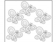 6 Pillangó - Szám gyakorló gyerekeknek
