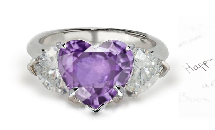 Purple diamond engagement ring – 9 | Ringlogy