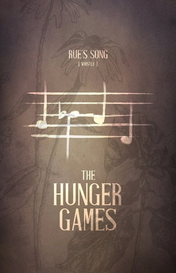 Hunger Games / Rues Whistle Calling. Pinning this for my music loving followers. This helped me out with solfège haha