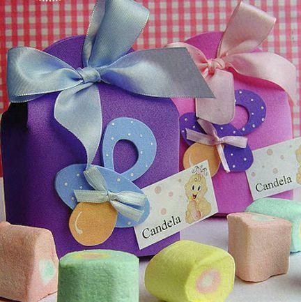Bolsa de goma eva para souvenirs de baby shower