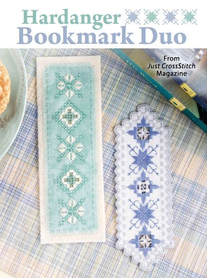 Hardanger Bookmark Duo from the Sep/Oct 2015 issue of Just CrossStitch Magazine. Order a digital copy here: https://www.anniescatalog.com/detail.html?code=AM53361