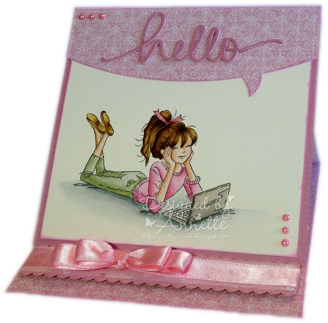 Netty's Cards: Easel does it